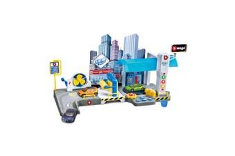 Burago 1:43 Scale Street Fire Car Wash Battery Operated Play Set w/Model Car 3y+