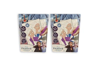 2x Colour Mazing Frozen 2 w/ Magic Ink Pens Kids/Children Interactive Art/Crafts