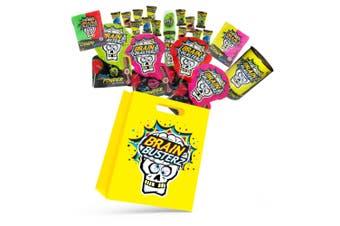 8pc Brain Busterz Kids Candy Showbag w/Sour Powder/Spray Candy/Brain Bitz