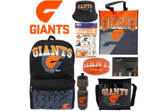 AFL GWS Giants Kids Showbag w/Backpack/Bottle/Football/Autograph Book/Hat