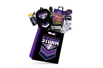 NRL Melbourne Storm Kids Showbag w/Backpack/Bottle/Stationery/Wallet/Cooler Bag