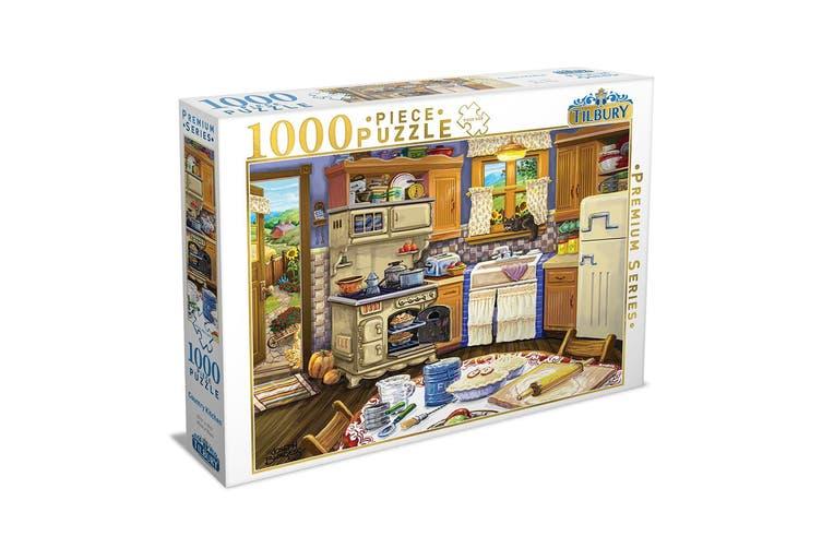 2x 1000pc Tilbury Ye Olde Kitchen Country Kitchen 69x50cm Jigsaw Puzzle Toys 8y Matt Blatt