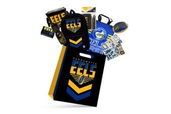 NRL Paramatta Eels Kids Showbag w/Backpack/Bottle/Stationery/Wallet/Cooler Bag