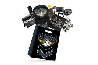 NRL Penrith Panthers Kids Showbag w/Backpack/Bottle/Stationery/Wallet/Cooler Bag
