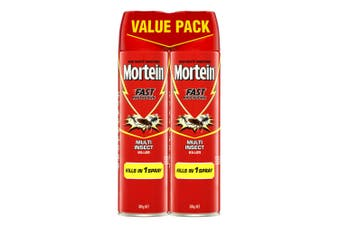 2PK Mortein 300g Fast Knockdown Multi Insect Killer Spray Cockroach/Mosquitoes