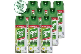 9PK Glen 20 Disinfectant Spray 300g Kills 99.9% of Germs Country Scent