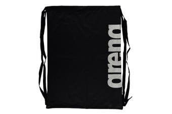 Arena Fast Mesh Backpack Drawstring Bag f/ Swimming Suits/Sports Training Black