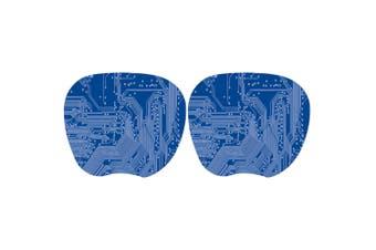 2PK Kensington Blue Super Thin Mouse Pad Anti-Slip Desktop Tracking for Computer