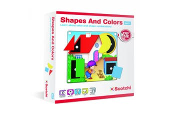 Scotchi Shapes & Colours Toddlers Educational Game/Toy Activity Mat/Board 2y+