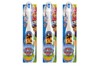 3x Kids Spinbrush Paw Patrol Electric Spinning Soft Toothbrush Oral Care Chase