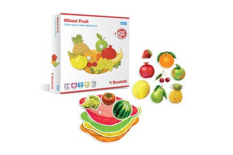 Scotchi Mixed Fruits Toddlers/Kids Educational Game/Toy Activity Boards 2y+