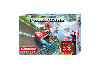 Carrera 4.9m Go Nintendo Mario Kart 8 Slot Car Racing Tracks w/Loop Kids Toy 6y+