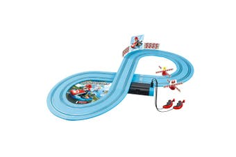 Carrera First Yoshi/Mario Kart Racing Slot Cars 2.4m Track Set w/Remote Kids Toy