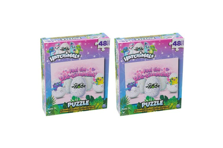 2x 48pc Hatchimals Birds Background Jigsaw Puzzle Educational Kids 3y+ Toy Pink