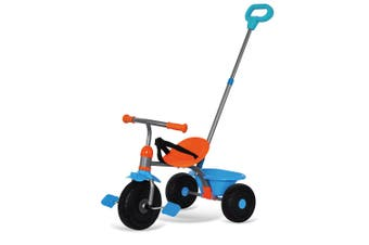 Trike Star 2-1 Tricycle Kids/Toddler Ride On w/Parent Handle/Toy Bucket BLU 15m+