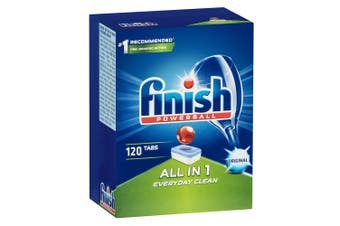 120PK Finish Tabs All In 1 Everyday Clean Dishwashing Tablets for Dishwasher