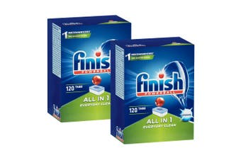 240PK Finish Tabs All In 1 Everyday Clean Dishwashing Tablets for Dishwasher