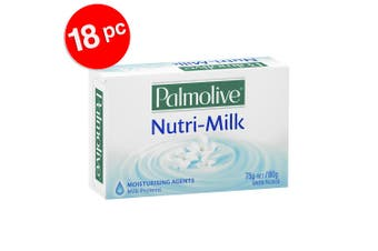 6x 3PK Palmolive 75g Nutri-Milk Moisturising Soap Bar Shower Bath Skin Care