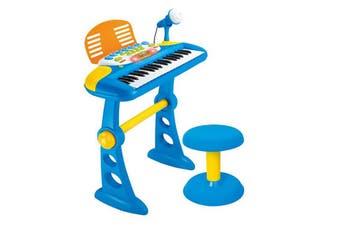 Blue 37 Key Kids Electronic Keyboard Piano Organ Toy/Microphone Music play kids
