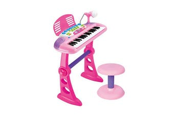 Pink 37 Key Kids Electronic Keyboard Piano Organ Toy/Microphone Music play kids