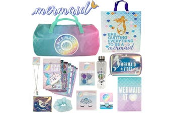 Mermaid Kids Girls Showbag w/Body Glitter/Decals/Drink Bottle/Face Jewels/Bag
