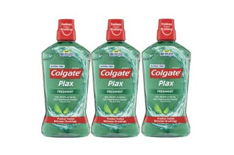3x Colgate Plax Alcohol Free 1L Mouthwash/Mouth Wash Oral Care Freshmint