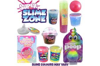 Super Slime Zone Kids Showbag w/Neon Slime/Putty/Glitter Ball/Crystal Putty
