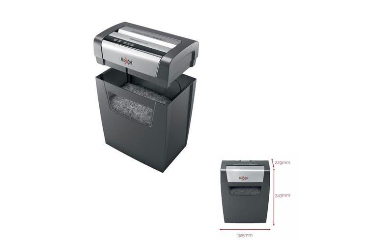 Rexel X308 Home Office Momentum 8x A4 Paper Sheet Shredder Cross w/15L Bin