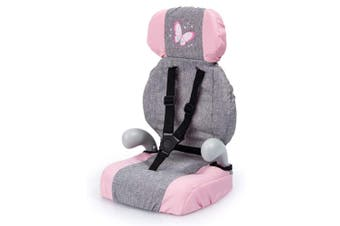 Bayer Deluxe Butterfly Travel Car Seat Toy for 46cm Dolls/Kids 3y+ Pink/Grey