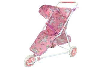 53cm Pretend Play Unicorn Doll Jogging Stroller/Pram Kids/Toy/Children PK