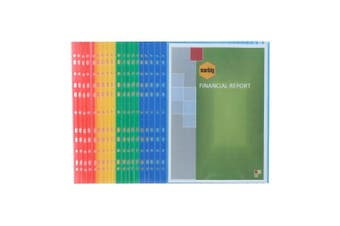 20pc Marbig Light Weight Plastic Coloured A4 Document/File Sheet Protectors