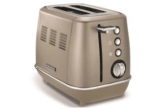 Morphy Richards 900W Evoke 2 Slice Stainless Steel Toaster w Crumb Tray Platinum