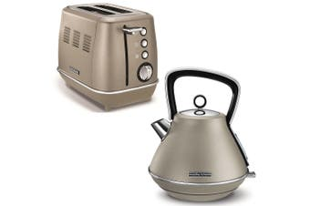 Morphy Richards Evoke Stainless Steel 2 Slice Toaster & 1.5L Kettle Platinum