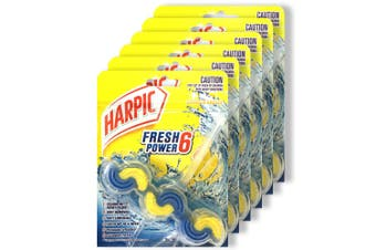 6PK Harpic Fresh 6 Power Toilet Bowl Flush Cleaner Summer Breeze/Cleaning Foam