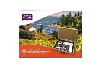 Derwent Academy 12ml Tube Oil Acrylic Paint Box Set Painting Art Artist Supply