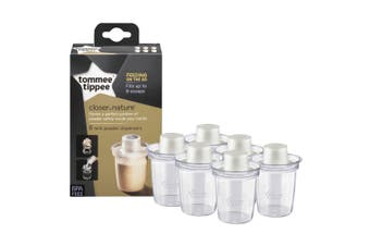 6PK Tommee Tippee Milk Powder Formula Dispensers for 260ml Feeding Bottle Clear