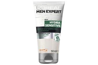Loreal Paris 150ml Men Expert Hydra Sensitive Skin Face Wash Facial Cleanser
