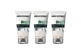 3x Loreal Paris 150ml Men Expert Hydra Sensitive Skin Face Wash Facial Cleanser