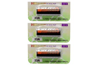 3PK 23A Alkaline Battery High Voltage 12V Cell Batteries for Remote/Alarm/Camera