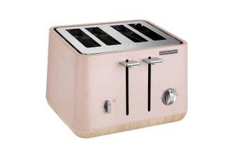 Morphy Richards Aspect 240012 Stainless Steel 4 Slices Slots Bread Toaster Pink
