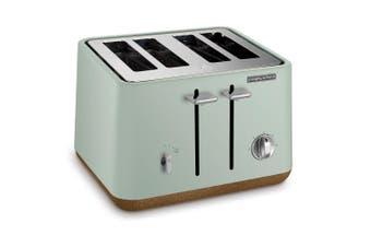 Morphy Richards 240015 Aspect 4 Slice Slot Toaster Cork Stainless Steel Mint