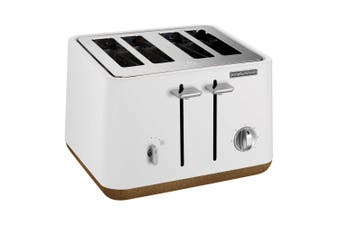 Morphy Richards 240016 Aspect 4 Slice Slot Toaster Cork Stainless Steel White