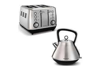 Morphy Richards 1880W Evoke Stainless Steel 4 Slice Toaster/1.5L Kettle Brushed