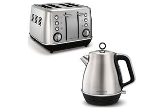 Morphy Richards Evoke Brushed Stainless Steel 4 Slice Toaster & 1.5L Jug Kettle