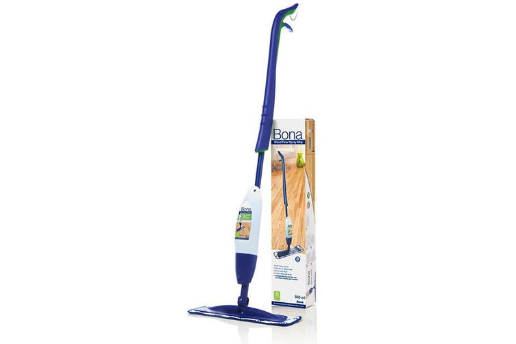 Bona Spray Mop w/ Microfiber Cleaning Pad/850ml Wood Floor Cleaner Cartridge