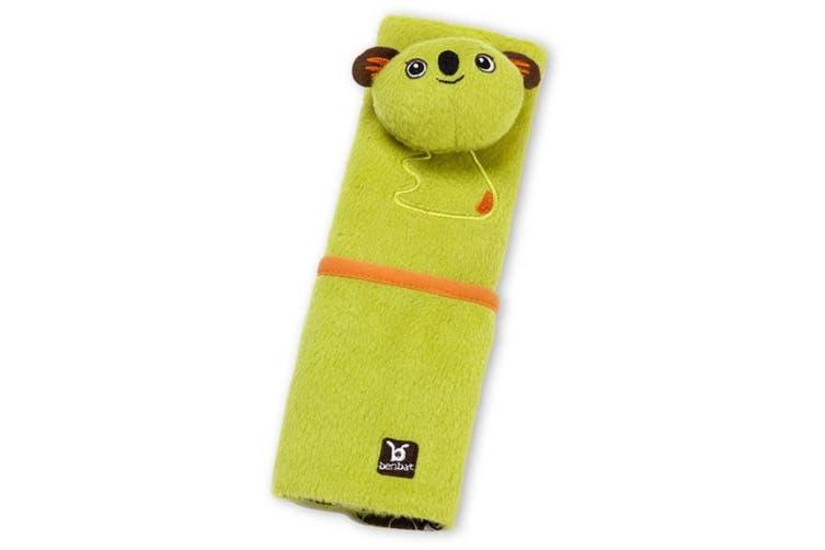 2PK Benbat Koala Pals Car Seat Belt Safety Cover 4-8m Baby/Infant Strap/Pads GRN
