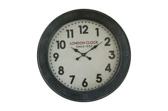 XXL London Industrial 72cm Wall Hanging Clock w/ Glass Front Home Room Decor