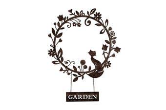 Laser-Cut 65cm Garden Wreath w/ Cat Wall Hanging Art Home Room/Garden Decor BR