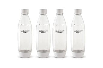 4x SodaStream Carbonating 1L Bottle for Drink Maker/Power/Source/Play/Spirit