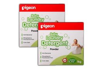 Pigeon 2kg Laundry Detergent Powder for Sensitive Skin Baby/Infant/Kids Clothes